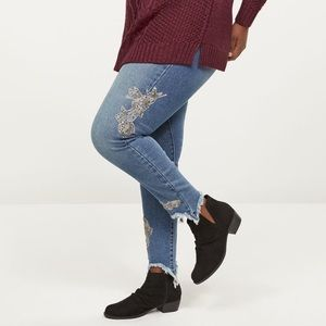 Lane Bryant skinny mid rise jeans